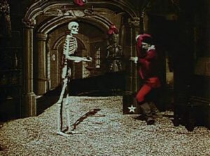 Scene from the 1897 film The Haunted Castle