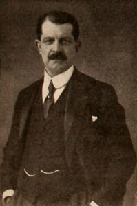French inventor, engineer, and industrialist Léon Gaumont, on page 5000 of the June 19, 1920 Motion Picture News. Gaumont was the director of a French motion picture firm.
